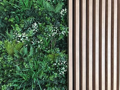 Vertical garden batten wall