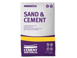 Cement Australia Sand & Cement for use as a General Purpose Mortar Product