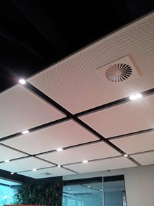 Detailed product image of plasterboard ceiling