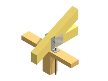 Reliable tie down of timber trusses to steel or timber wall frames