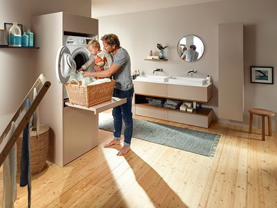 Blum Pull-out Shelf Residential Laundry Room