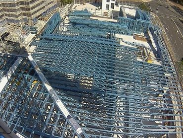 Lightweight steel framing at Langdon Apartments