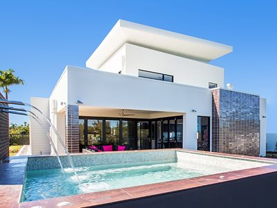 External View of White ModernHouse Facade Using Hebel PowerPanel External Wall System