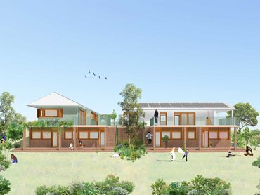 Artist's impression of the student category winning 'InBetween House' concept by University of Melbourne students