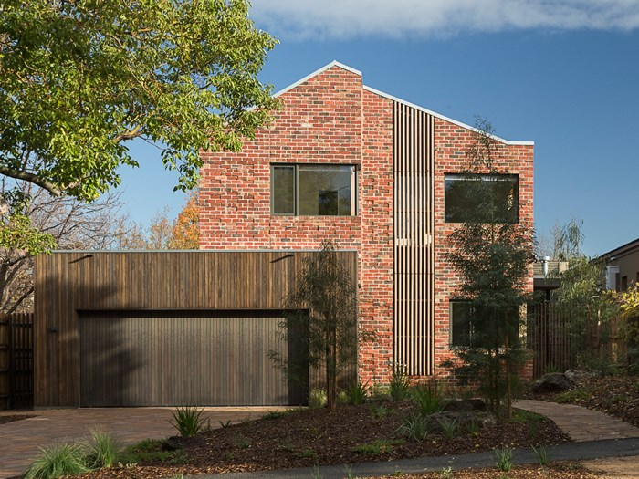 passive design recycled brick house