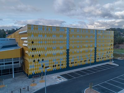 Yellow Patterned Facade