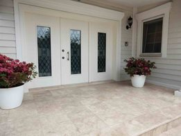 Travertine natural stone pavers from Turkey