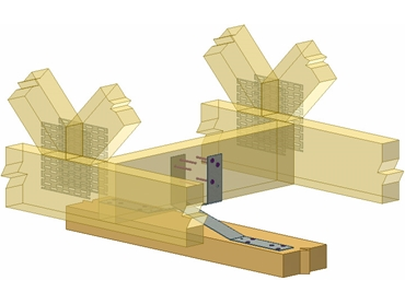 Timber Shear Connectors allow vertical movement of trusses