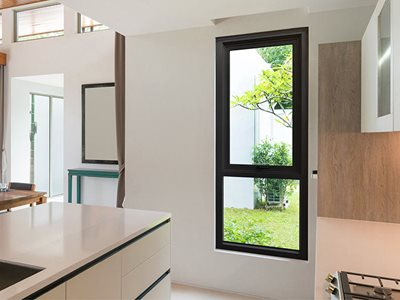 Darley Aluminium thermally broken window and door system in residential interior