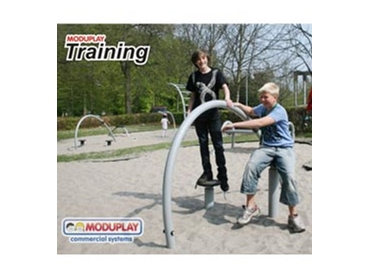 Recreational Equipment for Playgrounds and Fitness Trails by Moduplay Commercial Systems