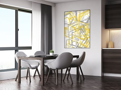 Klassikview window used in residential dining room interior