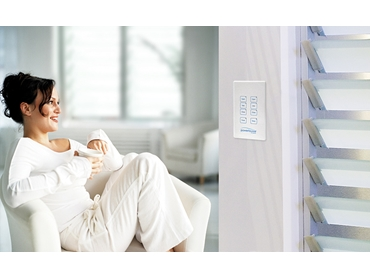 Altair Powerlouvres can be easily controlled by wall switch, remote control or BMS
