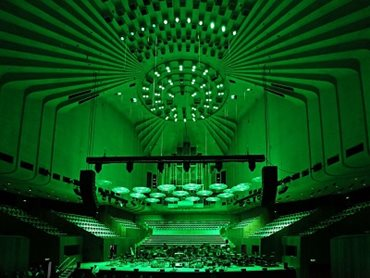 Custom LED lights in the Concert Hall (c) Prudence Upton