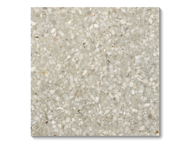 Pewter Terrazzo Tiles are made of pure stone elements and mineral aggregates