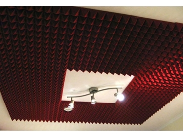 Apply Cheops® to ceilings as a baffle