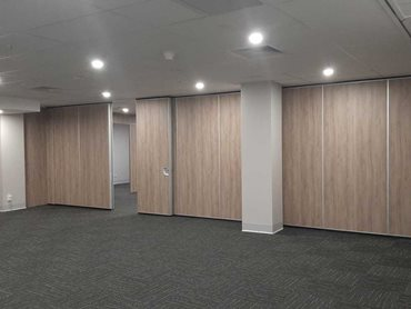 Operable walls provide efficient acoustic separation between the venue's various conference spaces