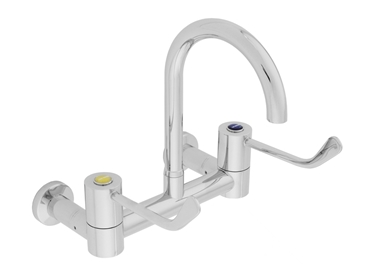 The CliniLever range features low lying lever handles allow for hands free operation