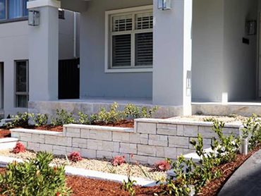 StoneFace masonry blocks were featured in Opal White