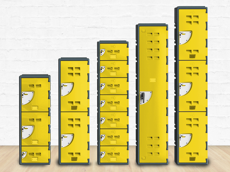 Configurable HDPE Coloured Locker Systems for Public Spaces