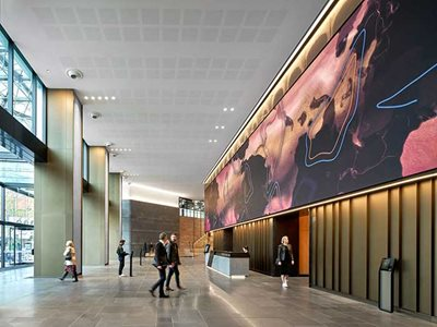 Cox Architects Melbourne Central Foyer LED Screen