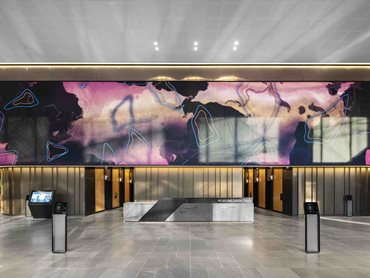 It is the largest indoor LED lobby project in the southern hemisphere
