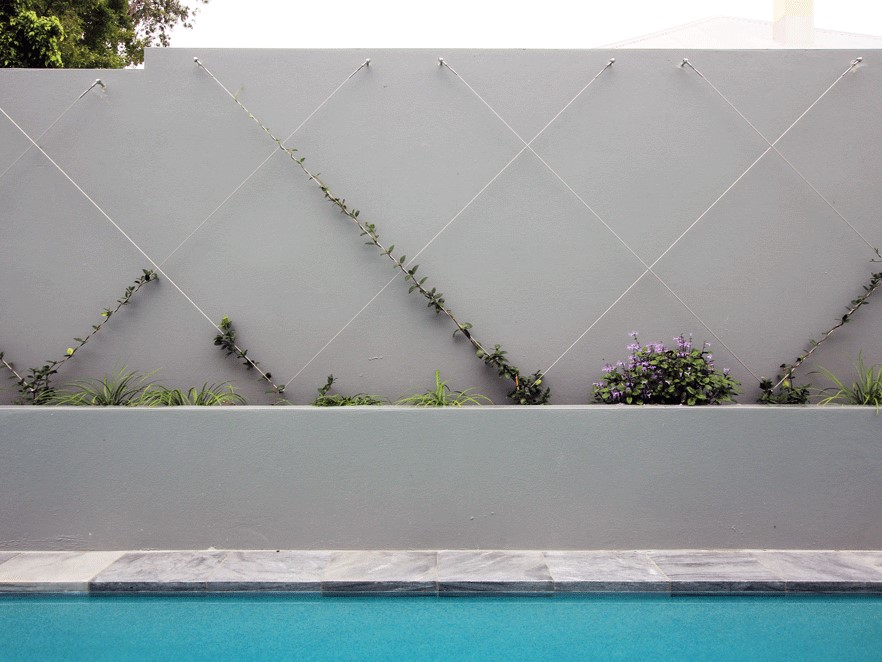 Miami Stainless green wall hardware