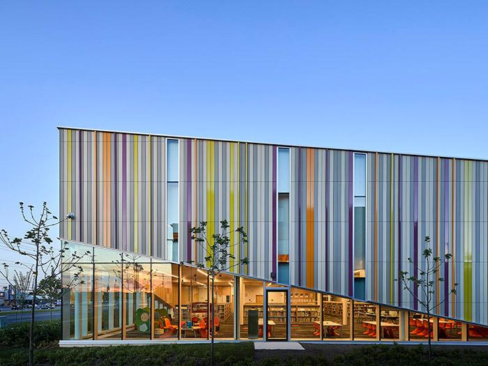 External view of Albion District Library Toronto sustainable building