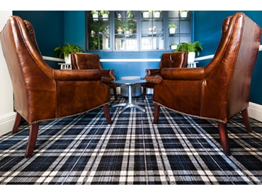 Custom Tartan layout at Muddle Bar