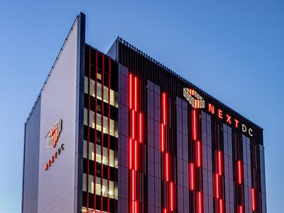 Arcadia Bespoke Facades Integrated Red Lighting
