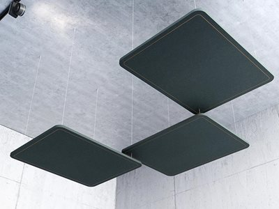 Rendered product image of acoustic ceiling solution