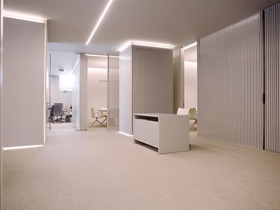 Commercial interior with fabric vinyl flooring from Signature Floors