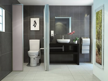 SANIACCESS installed in a bathroom