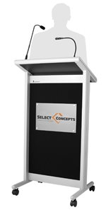 Classic Electronic Lectern with Logo