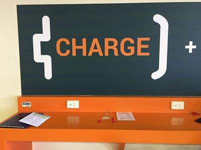 Corian Charging surface station at Townsville Airport