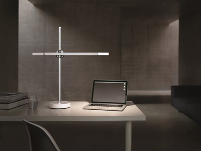 CSYS White Desk Light on table