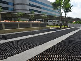 TurfPave® XD interlocking plastic grass pavers