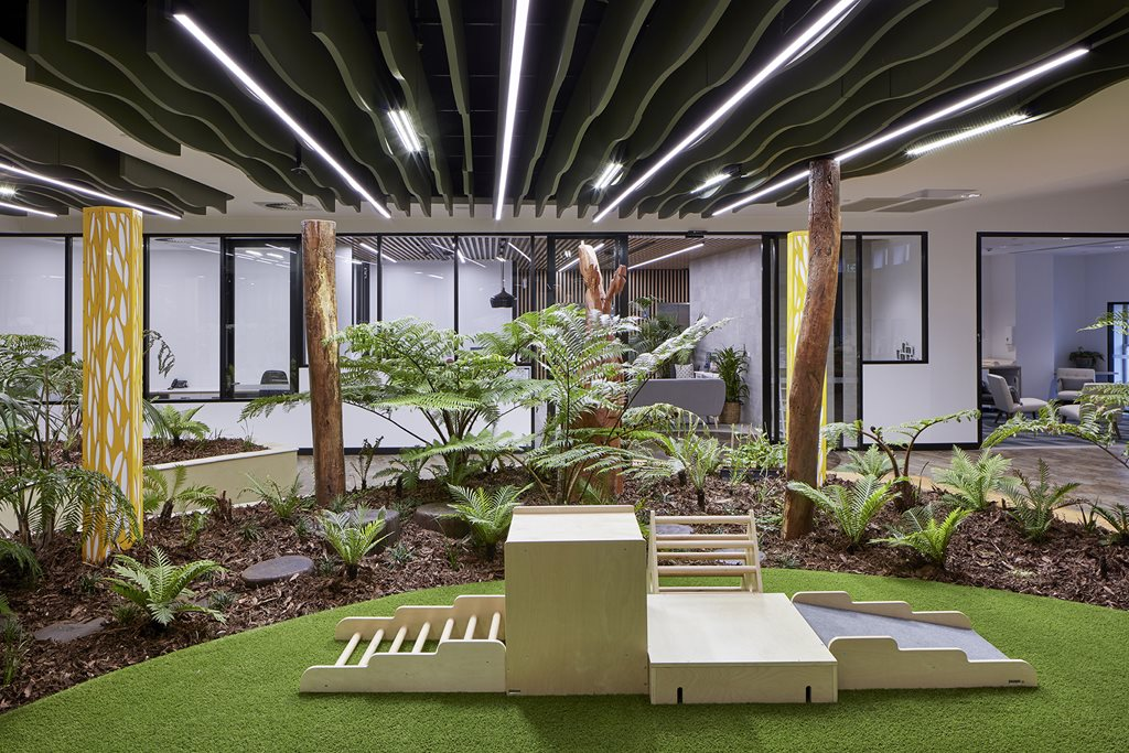 Childcare centre turns brisbane heritage building into inverted garden architecture and design Kitchen design centre brisbane