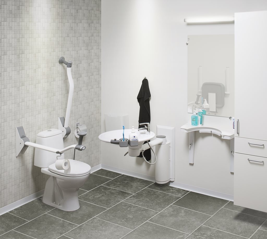 Accessible bathroom systems for increased independence
