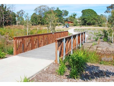 Timber and Steel Pedestrian Bridges and Boardwalks by Landmark Products l jpg