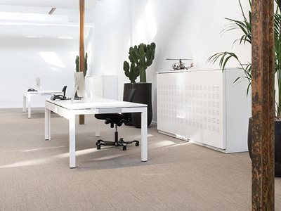 Commercial office interior with fabric vinyl flooring from Signature Floors