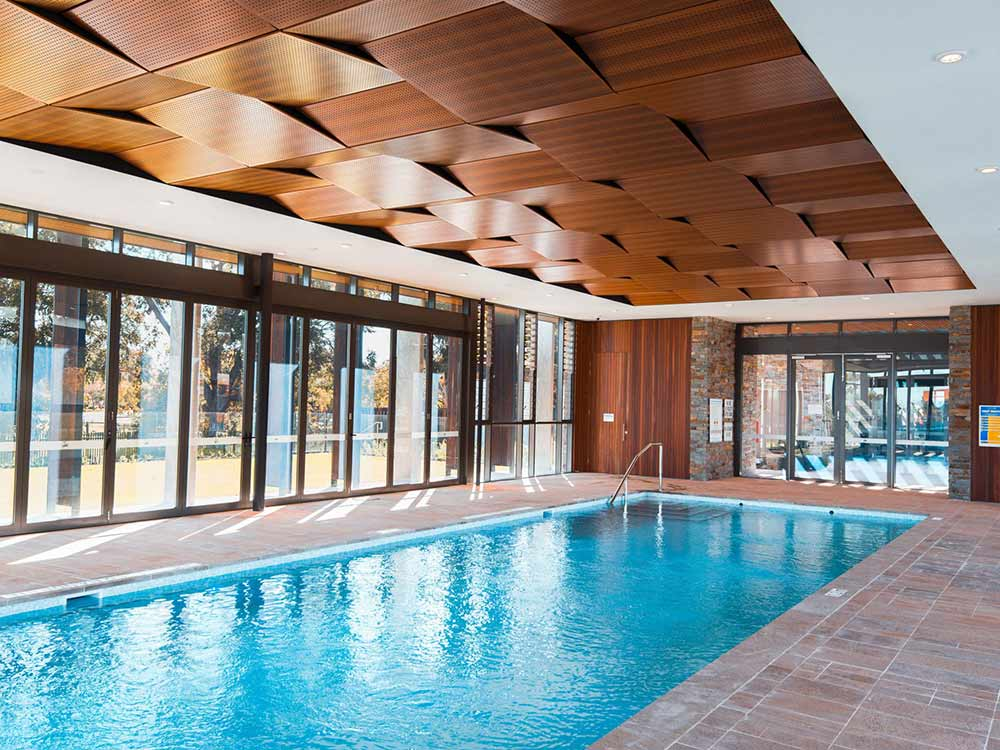 Indoor pool at St-Ives Carine WA Hassell