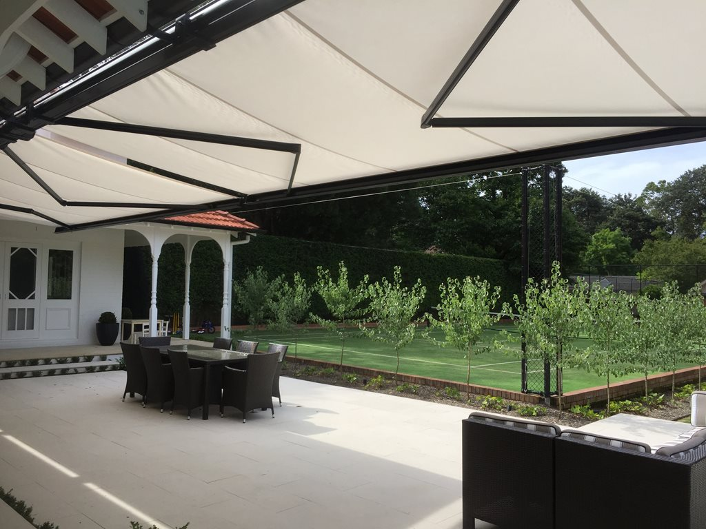 Folding Arm Awnings - retractable sun protection