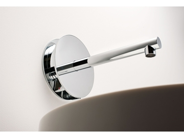 Latitude wall basin set with hot lever