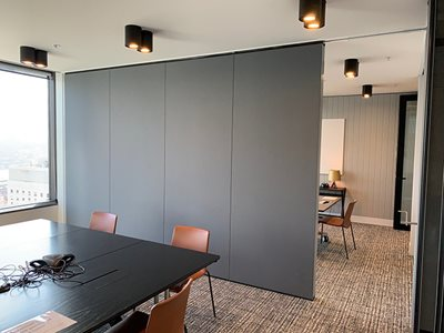 Office Meeting Room Interior Operable Acoustic Walls
