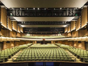The main auditorium delivers 941 seats including balcony seating
