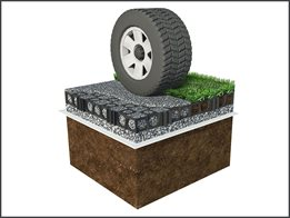 Turf Cell® grass  & aggregate reinforcement structure
