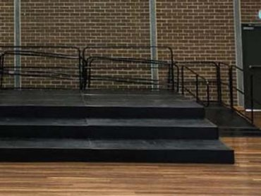 Crown Street Public School Quattro modular stage with access ramp