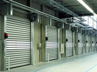 DMF Efaflex High-Speed Doors Warehouse Interior