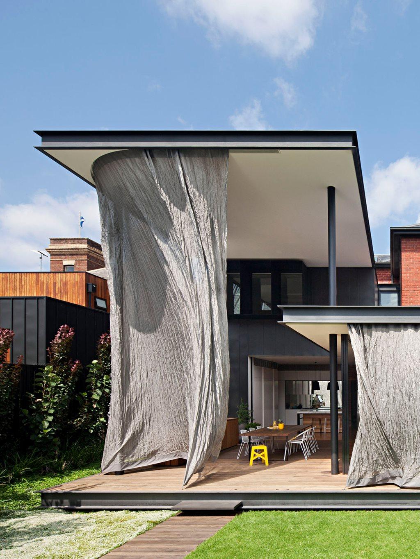 Metal Mesh Curtain Shrouds Matt Gibson Home Extension
