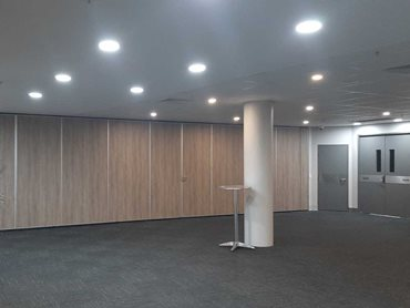 Bildspec's operable walls were used to make individual spaces larger or smaller